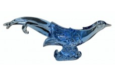 Paden City Blue Chinese Pheasant Figure