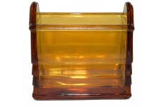 Paden City Deep Amber Glass #210 Napkin Holder