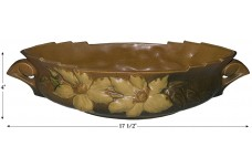 "Roseville Clematis Autumn Brown #461- 14"" Console Bowl"