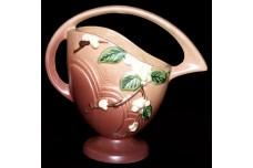 """Roseville Snowberry #18K Rose (pink) 8 1/2"""" Basket"""