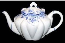 Shelley Dainty Blue on Dainty Blank Scarce Teapot DONE