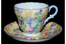 Shelley Chintz Summer Glory Henley Demitasse Cup and Saucer