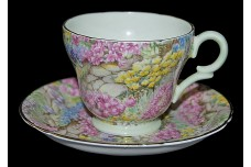 Shelley Rock Garden Demitasse Cup and Saucer