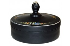 Westmoreland Black Satin 1854-2 Chocolate Box and Cover