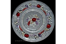 Westmoreland  Della Robbia Pretty Stained Luncheon Plate- Beautiful Staining