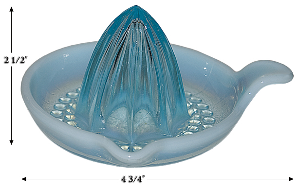 Nickle Plate Blue Opalescent Reamer