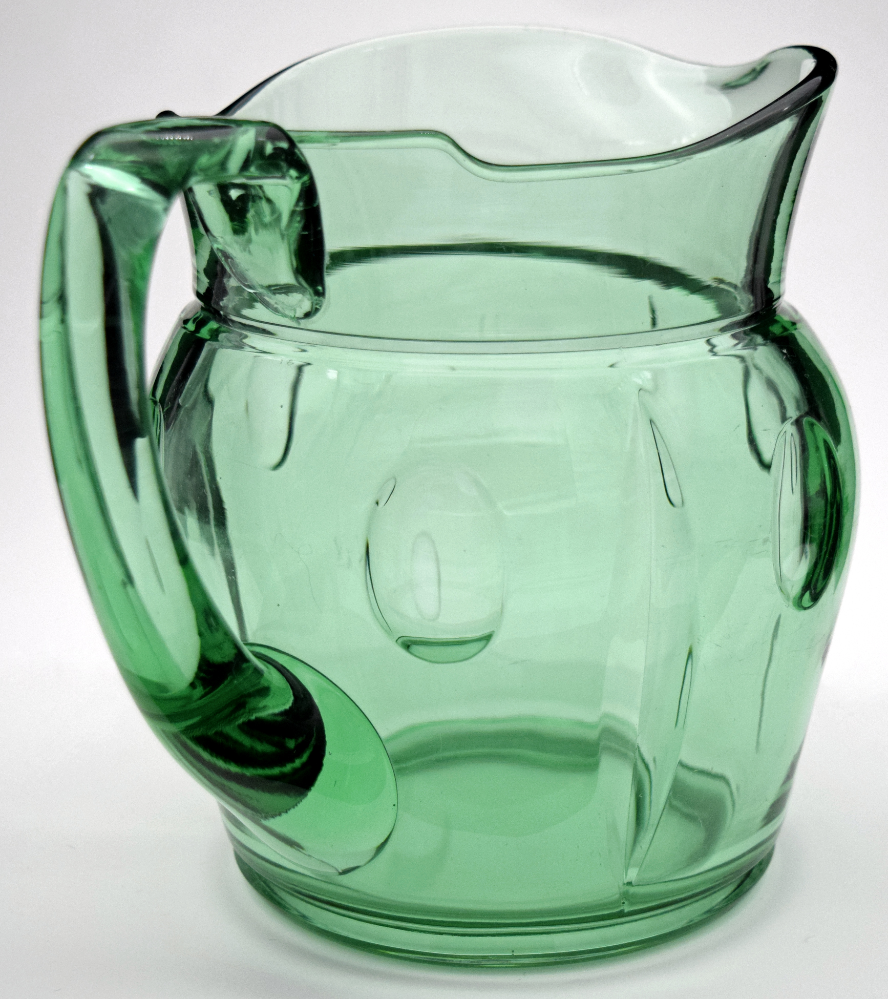Duncan and Miller Plaza Green Pitcher / Jug The Handle