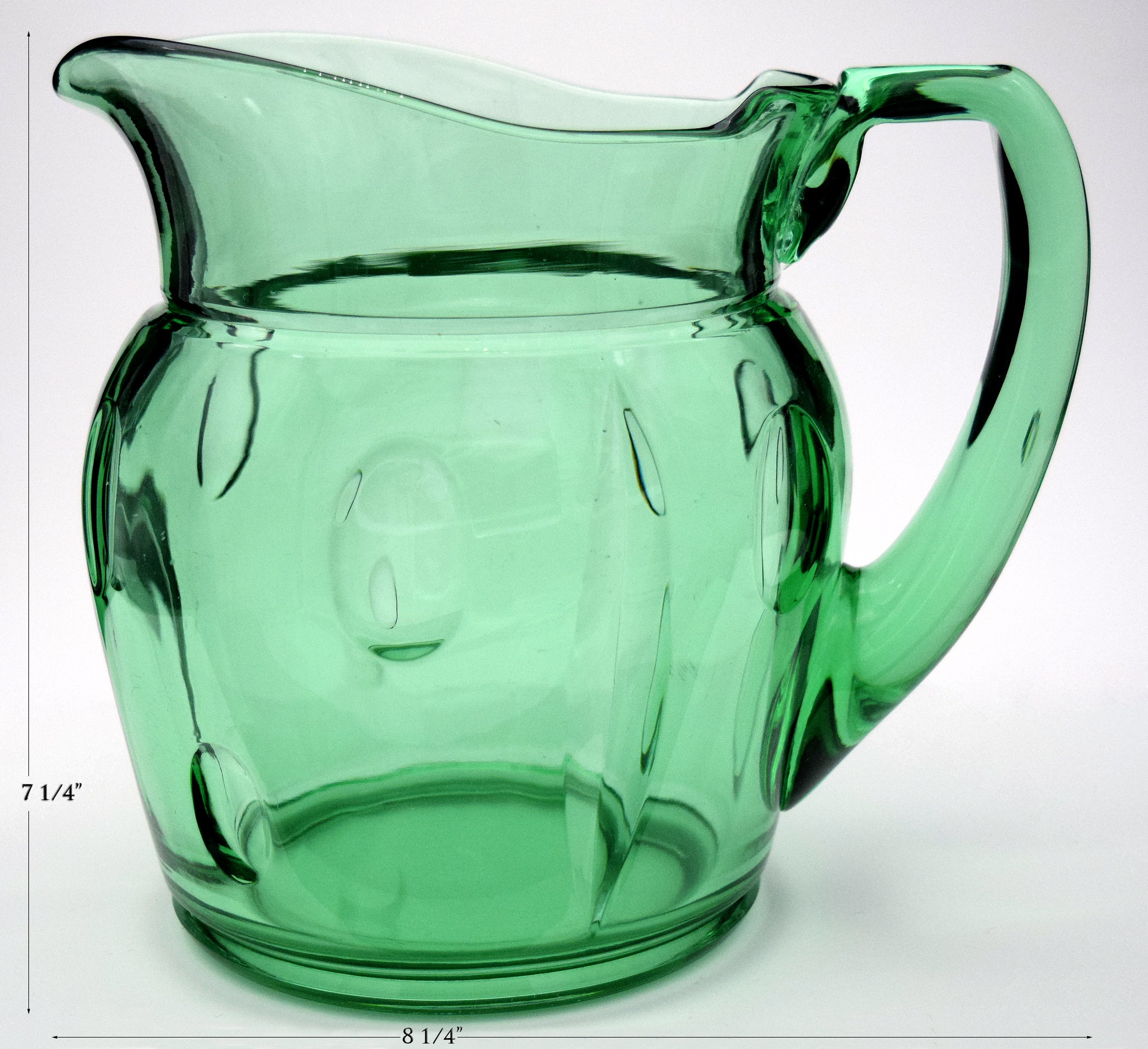 Duncan and Miller Plaza Green Pitcher / Jug