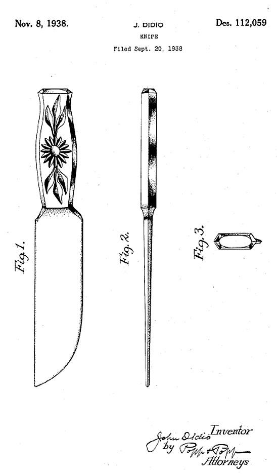 Dur-X Pink 5 Leaf Knife Patent