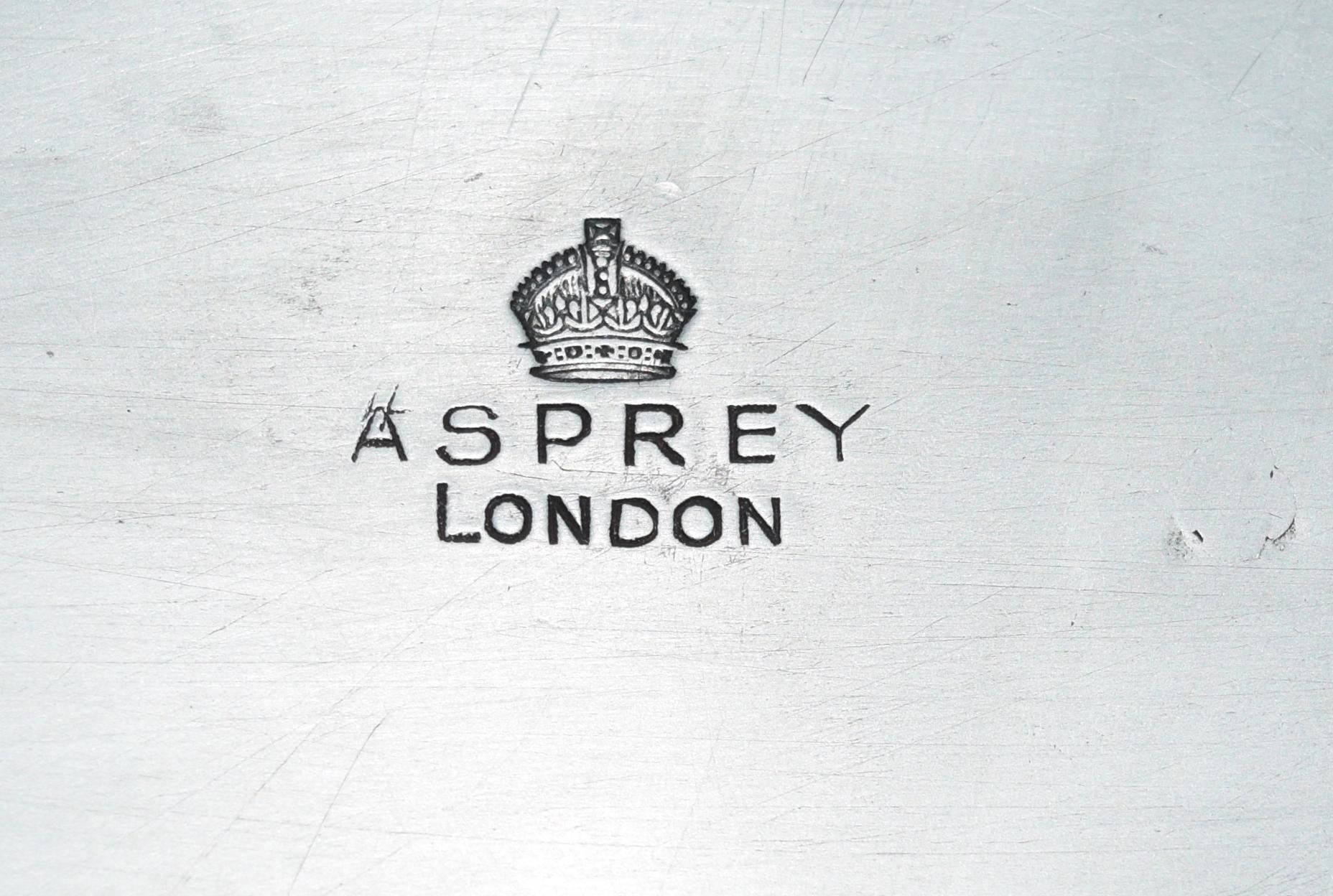 Asprey Mark on Tray Top