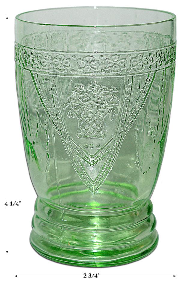Green Georgian Water Tumbler