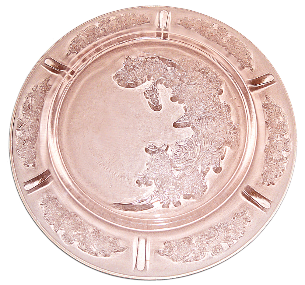 Sharon Federal Pink Dinner Plate Back