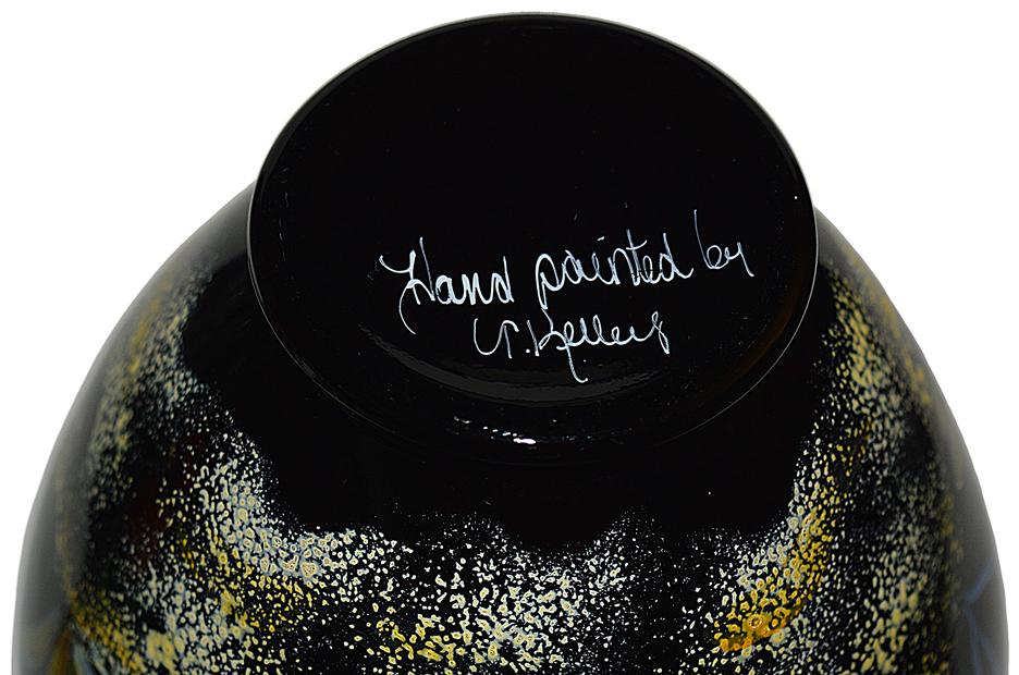 Fenton Paradise underwater scene vase Signature
