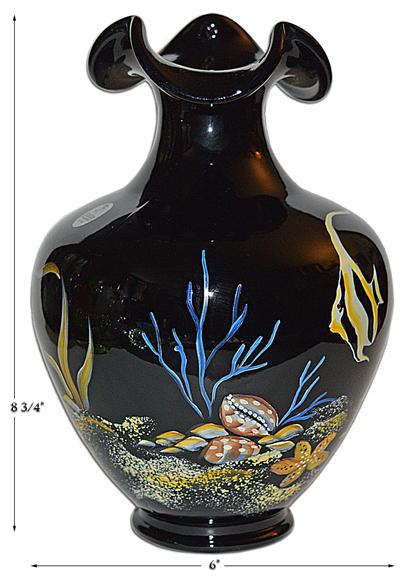 Fenton Paradise underwater scene vase
