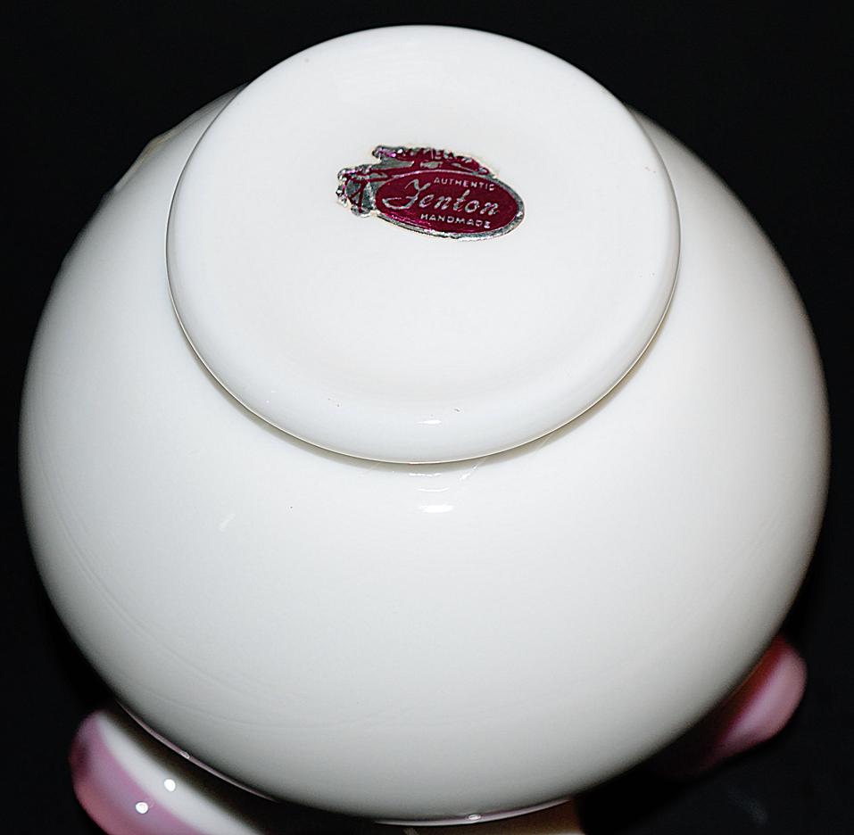 Fenton Apple Blossom Crest Vase Bottom