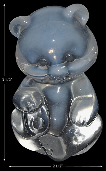 Fenton French Opalescent Bear 1980s