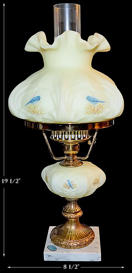 Bluebirds on Custard Classic Student Lamp