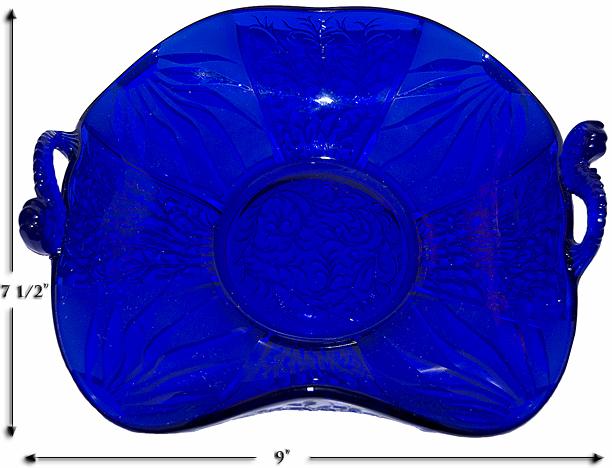 Cobalt Fenton Dolpin Bowl Large