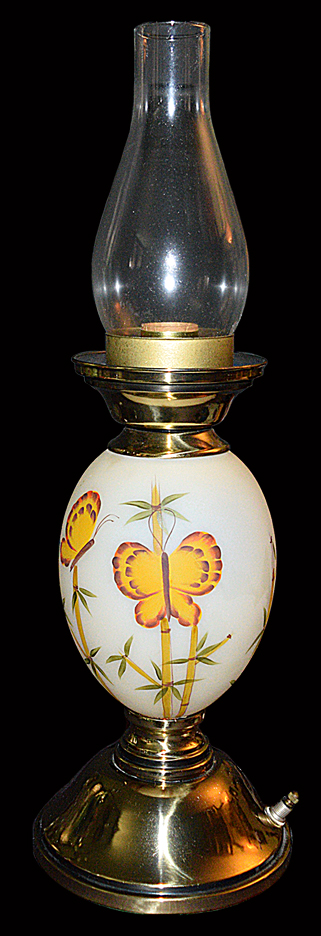 Fenton Butterfly Lamp Bottom