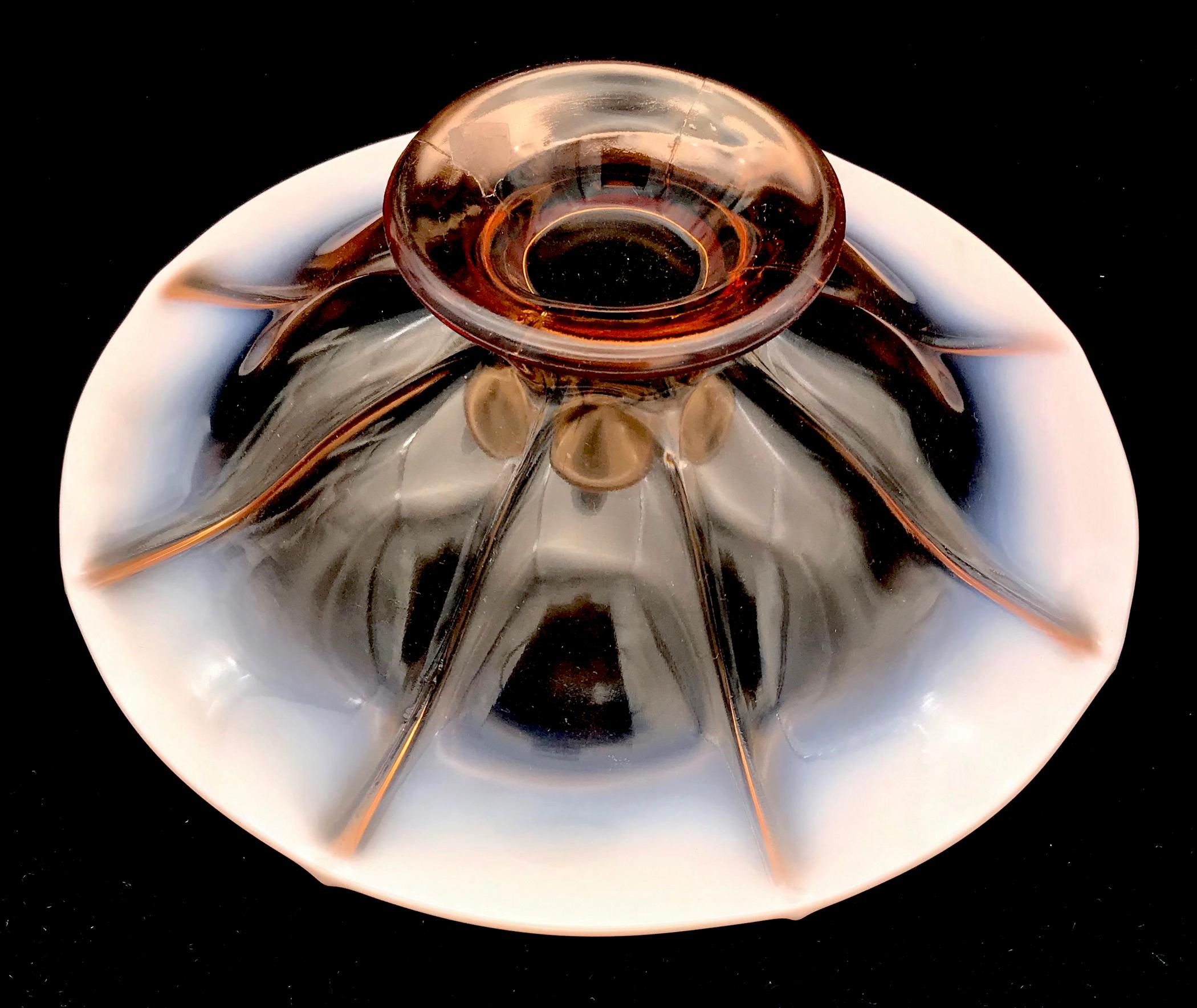 Fenton Cameo Opalescent Console Bowl