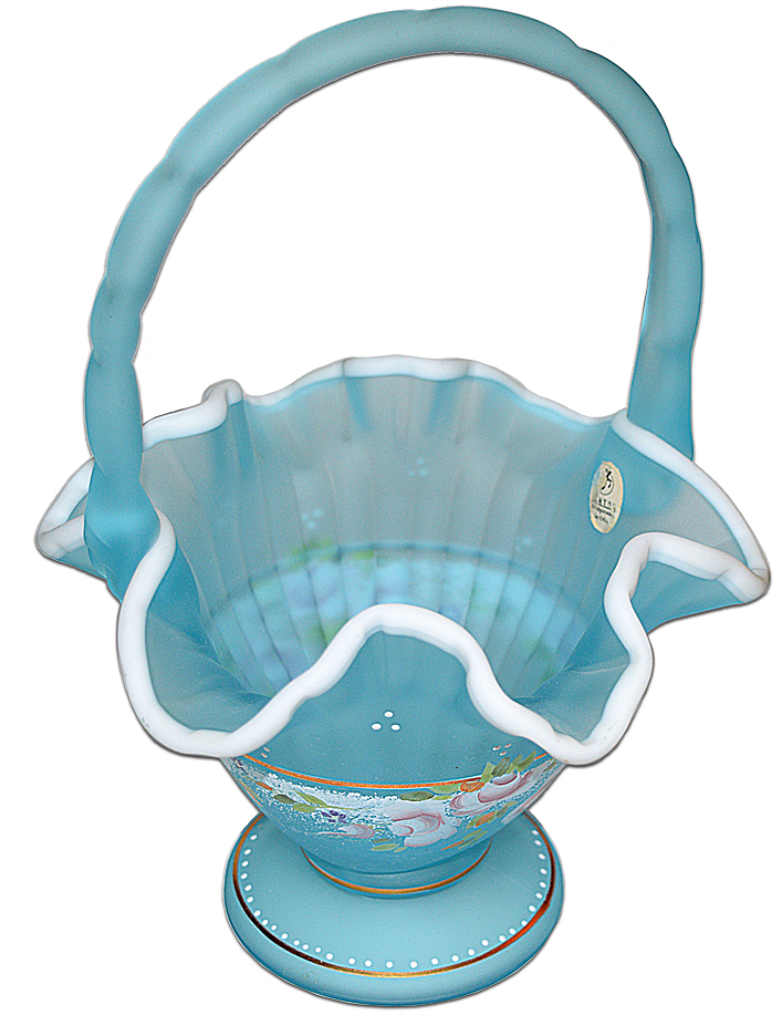 Fenton QVC Charleton Basket - Blue Topaz Looking Down