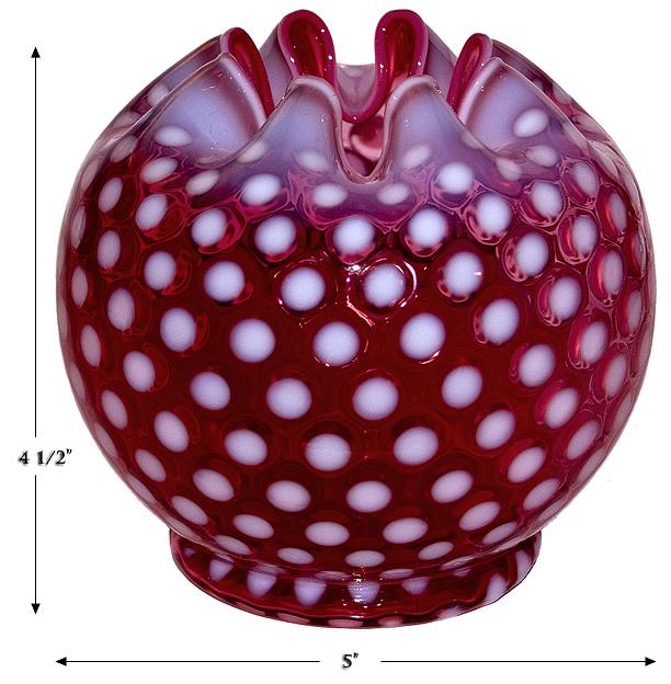 Fenton Large Polka Dot Rose Bowl