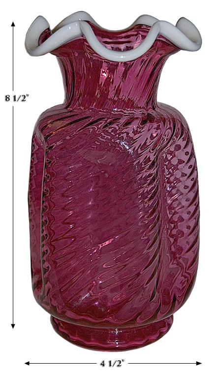 Ruby Snowcrest Pinch Vase
