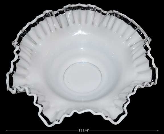 Crystal Crest 10 Inch Double Crimped Bowl