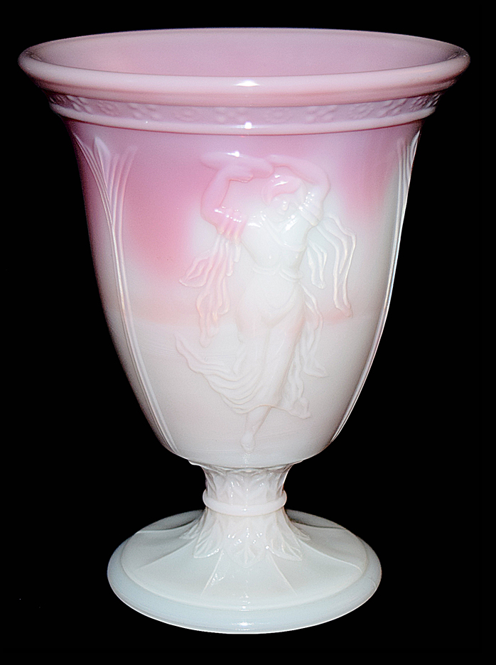 Fenton Rosalene Dancing Ladies Vase Another View