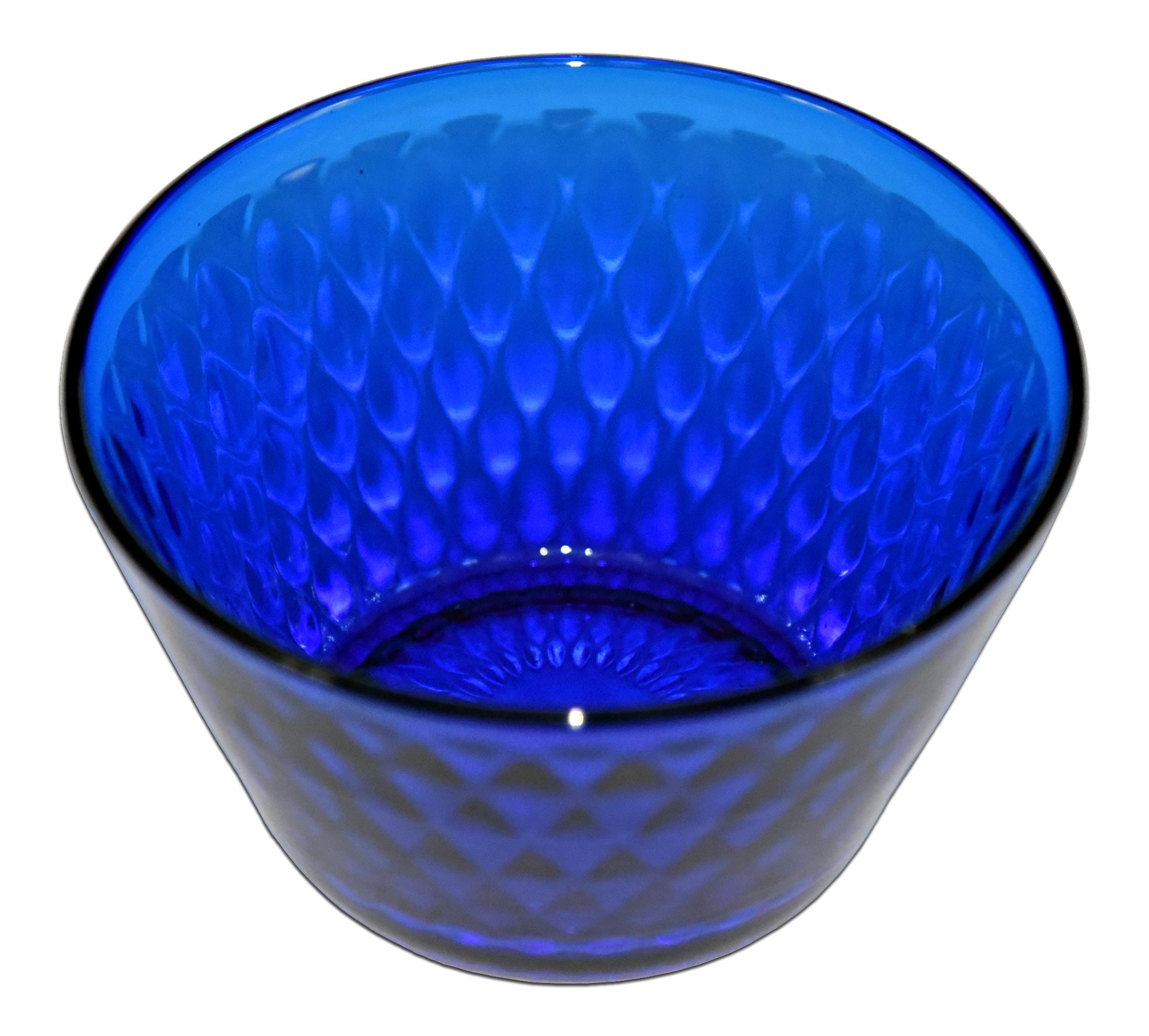 Fenton Diamond Optic Finger Bowl Looking Down