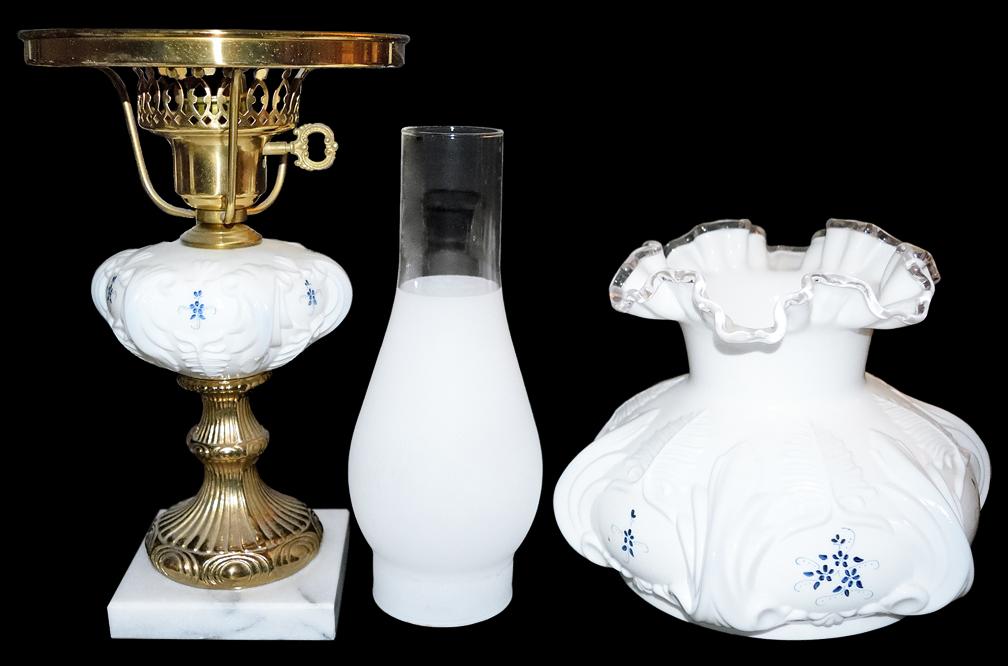 Fenton Elizabeth Collection Student Lamp Apart