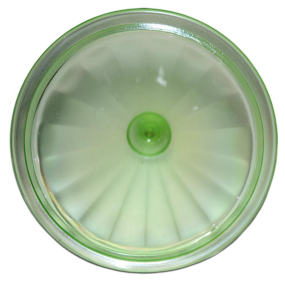 Fenton Florentine Green Stretch 1/2 LB. Candy Lid Inside
