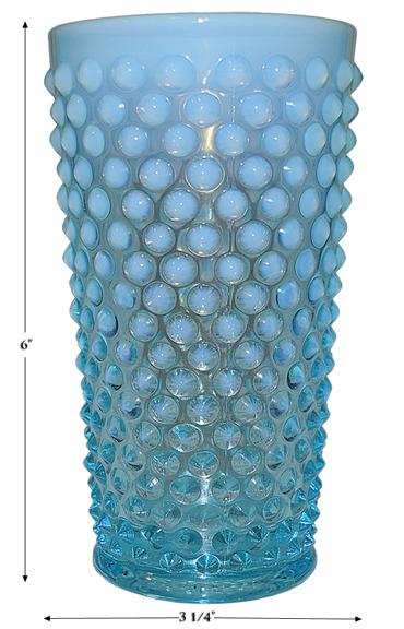 Fenton Blue Opalescent Hobnail Lemonade Tumbler