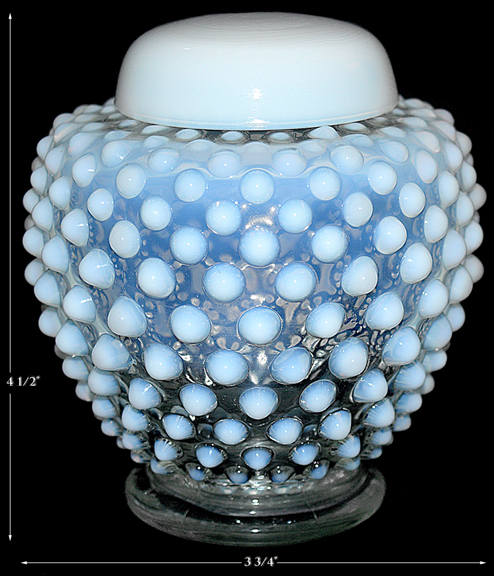 Fenton Hobnail FO Covered Jar