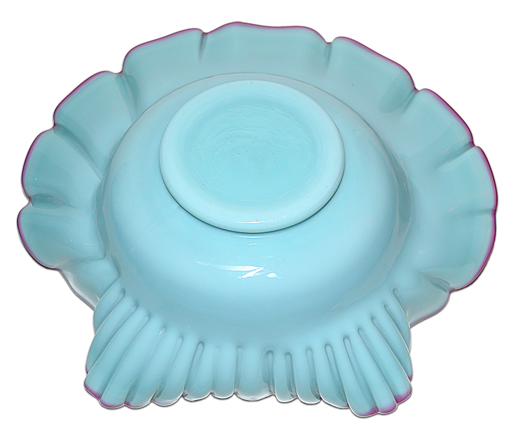Fenton Cased Lilac Shell Bowl The Bottom