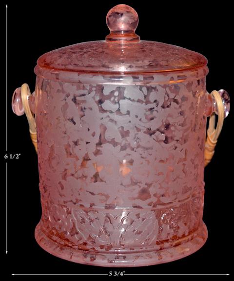 Fenton Ming Macaroon / Cookie Jar Pink Satin