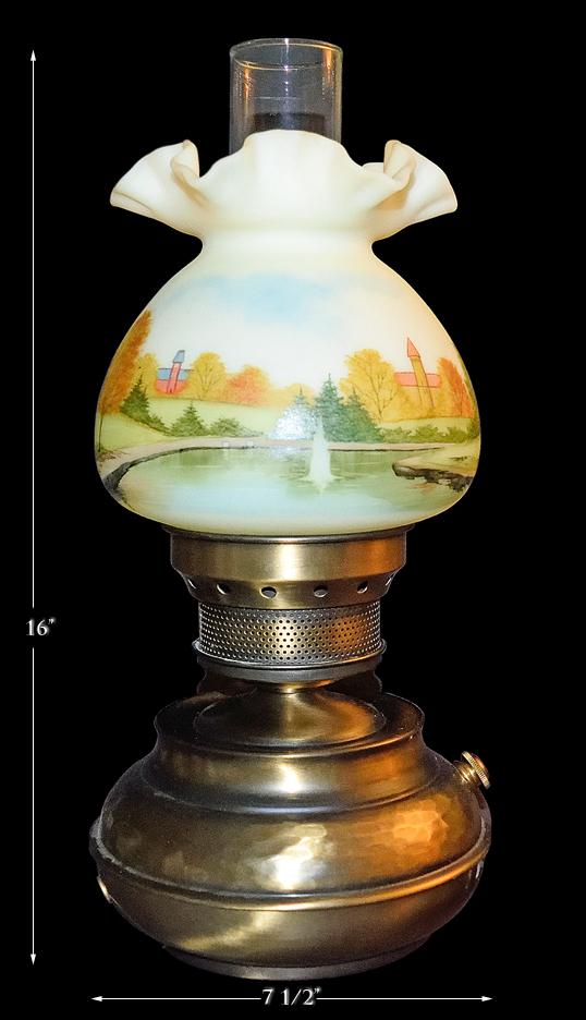 FENTON OHIO STATE LAMP
