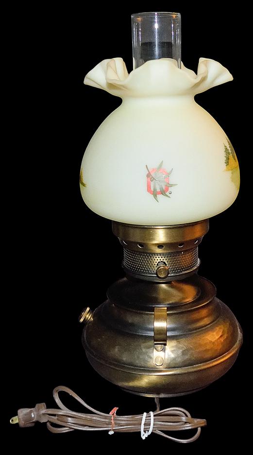 FENTON OHIO STATE LAMP BACK