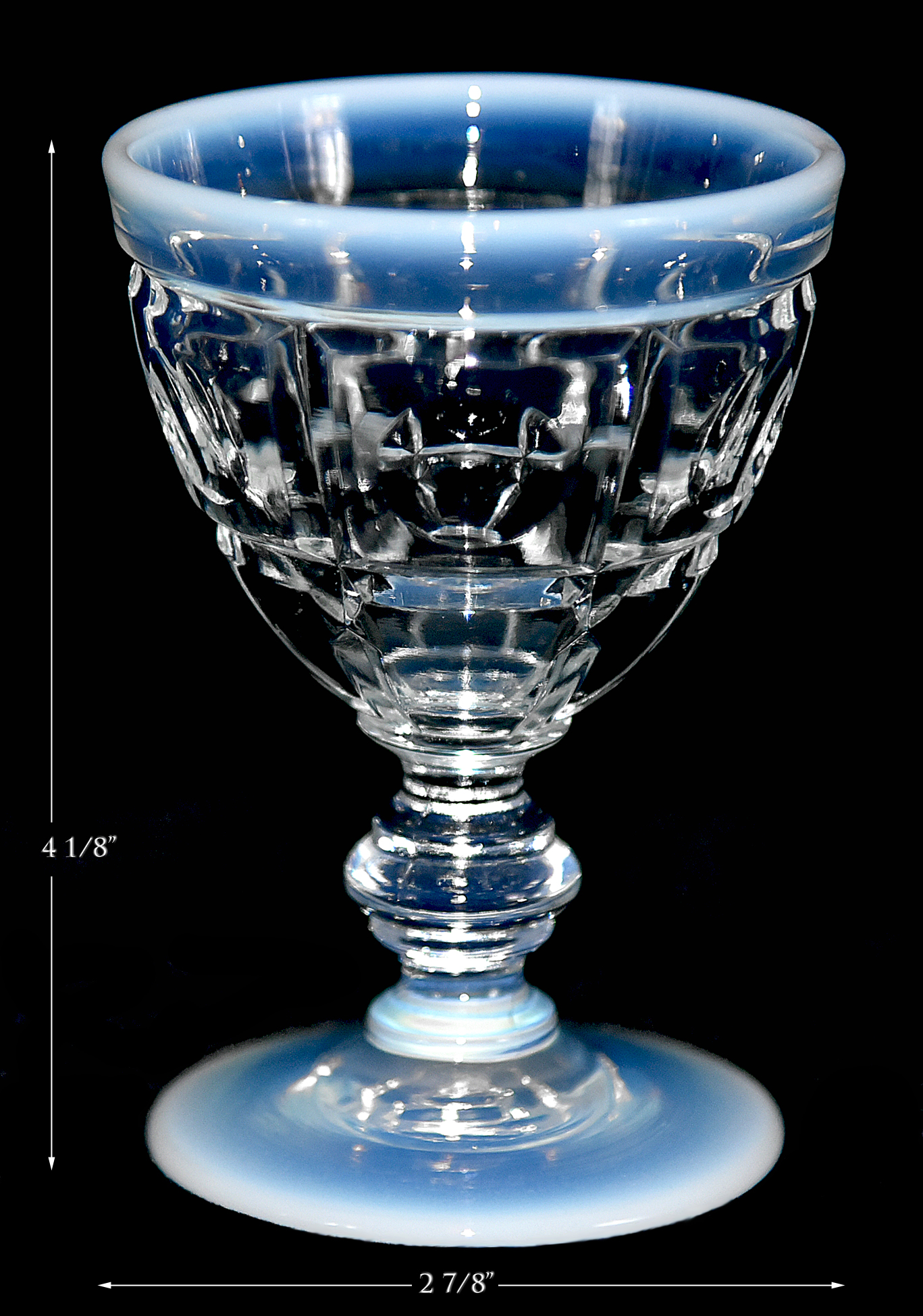 Fenton French Opalescent Wine Goblet