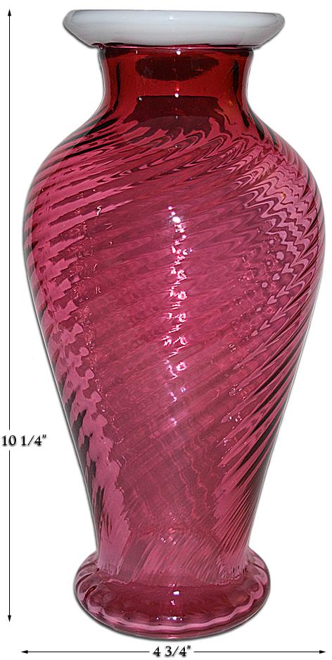 Fenton Ruby Snowcrest Large Vase