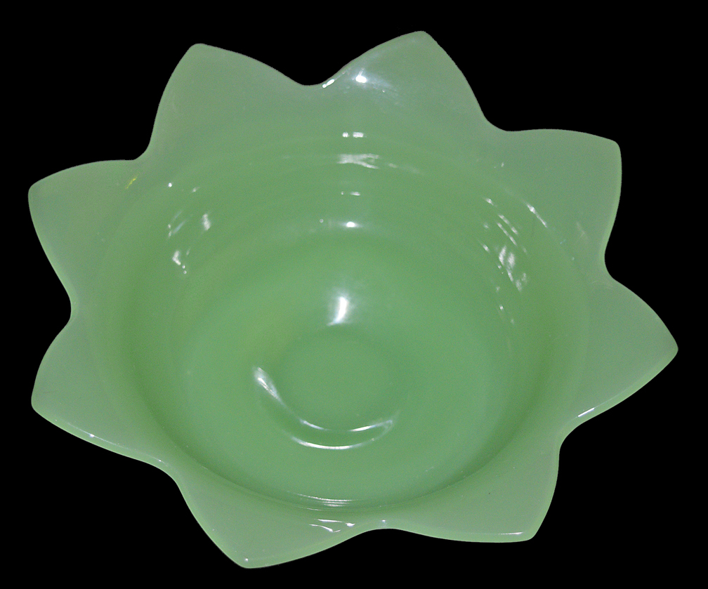Fenton Jade Green Bowl For Nymph