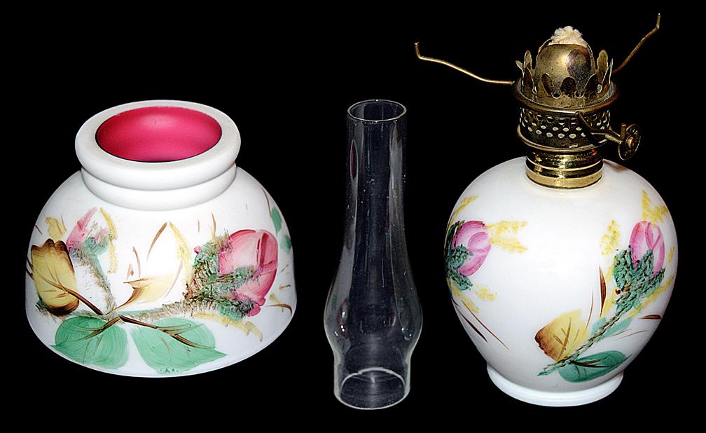 Moss Rose Miniature Lamp Apart