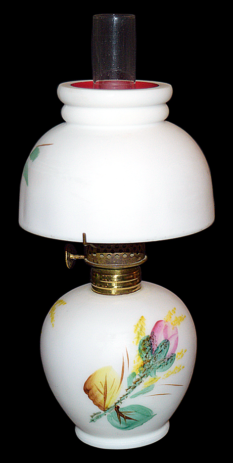 Hall Miniature Moss Rose Miniature Lamp - Back