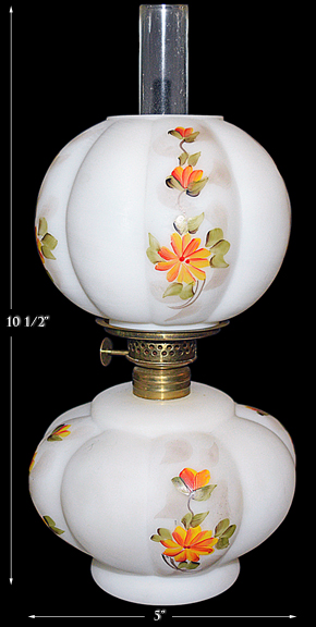 Fenton / Wright Miniature Lamp with Butter Cup Hand Painting