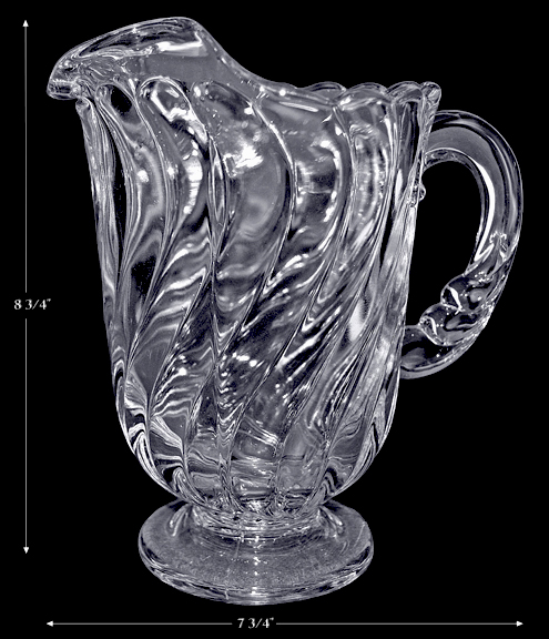 Fostoria Colony Footed Large Ice Lip Pitcher
