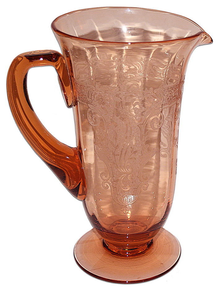 Fostoria Amber Vesper Pitcher The Other Side