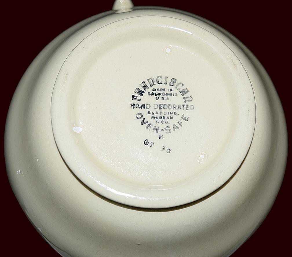 Franciscan Ivy Coffee Pot / Carafe Backstamp