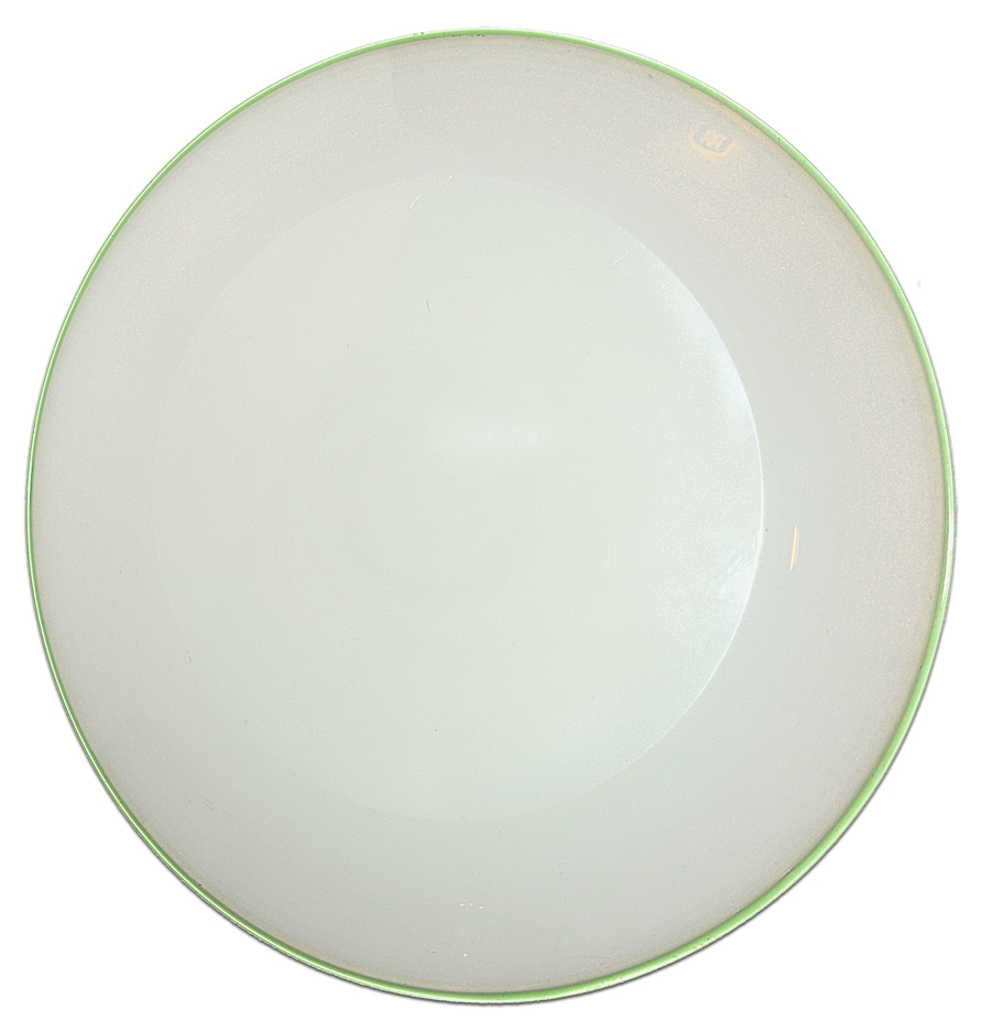 Fry Foval Luncheon Plate - the back