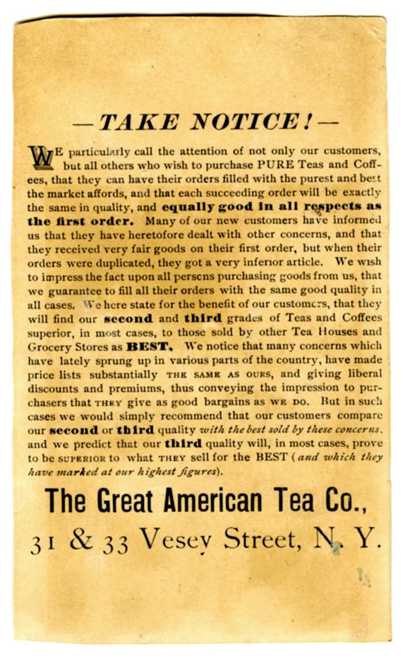 Great American Tea Company Blue Dog Card Back