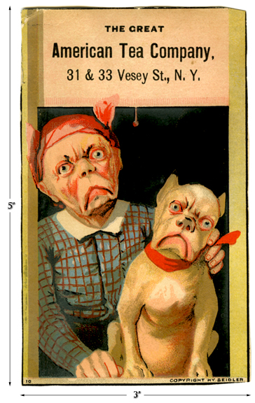 Great American Tea Company Bull Dog Card